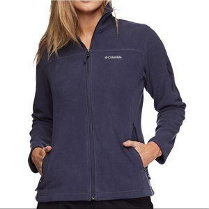 Columbia Women's Fast Trek II Fleece Jacket Dark Purple Size Small
